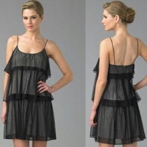 ✨Jay Godfrey Mini Black Tiered Tulle Dress ✨